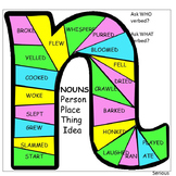 Grammar Parts of Speech: Nouns and Verbs Game and Worksheets