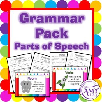 Grammar- Parts of Speech Pack