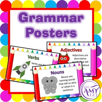 Grammar-Parts of Speech Posters
