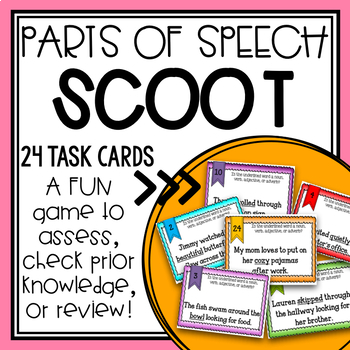Grammar Parts of Speech Scoot/ Task Cards BUNDLE + Posters!