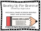 Grammar (Parts of Speech) Task Cards & Resource Sheet: COMMON CORE ALIGNED
