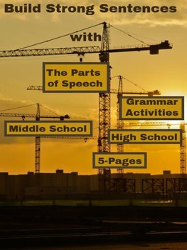 Grammar Activities - Build Strong Sentences with The Parts of Speech