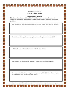 Grammar Activities - Build Strong Sentences with The Parts of Speech