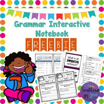 Grammar - Parts of a Sentence Interactive Notebook FREEBIE!
