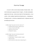 Grammar Passage Early Test Prep 1