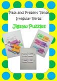 Grammar: Past and Present Tense Irregular Verbs Jigsaw Puzzles