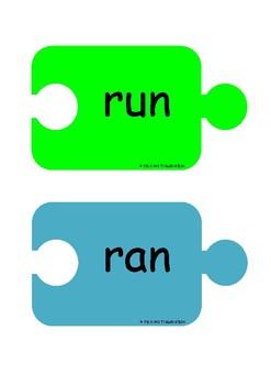 Grammar: Past and Present Tense Verbs Jigsaw Puzzles FREEBIE