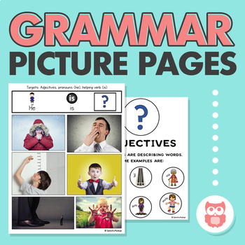 Grammar Picture Pages for Speech Therapy