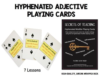 Grammar Playing Cards: Verbs and Hyphenated Modifiers (shrink-wrapped decks)