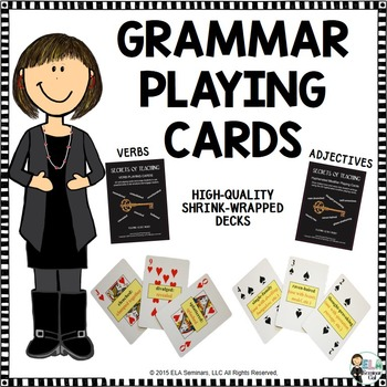 Grammar Playing Cards: Verbs and Hyphenated Modifiers (shr