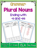 Grammar: Plural Nouns with -S and -ES