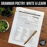 Grammar Poetry: Creative Writing & Peer Instruction for Teens