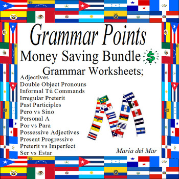 Grammar Points Review  Bundle (Perfect for back to school)