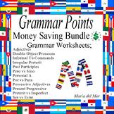Grammar Points Review  Bundle (Perfect for final exam reviews)