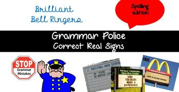 Grammar Police Spelling Edition Bell Ringer Powerpoint
