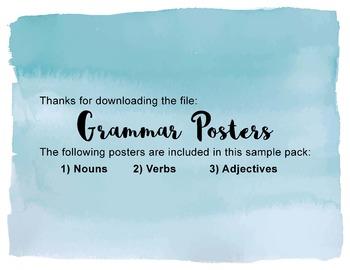Grammar Poster Pack_Sample