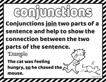 Grammar Poster Set - 68 Color and Black and White Copies!