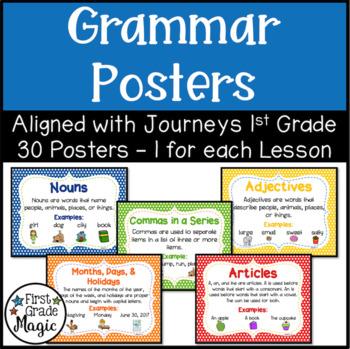 Journeys First Grade Grammar Posters