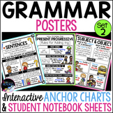 Grammar Posters, Anchor Charts & Writer's Notebook Sheets SET 2