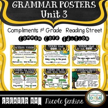 Grammar Posters Reading Street Common Core Edition Unit 3