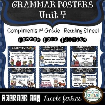 Grammar Posters Reading Street Common Core Edition Unit 4