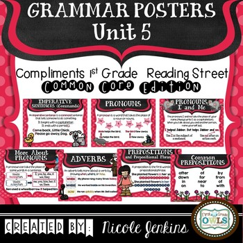 Grammar Posters Reading Street Common Core Edition Unit 5