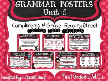 Grammar Posters Reading Street Common Core Edition Units 1-5 Bundle
