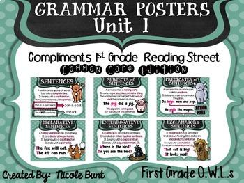Grammar Posters Reading Street Common Core Edition Units 1-5 Bundle
