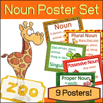 Grammar Posters - Nouns (Set of 9)