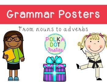 Grammar Posters: Rainbow Edition