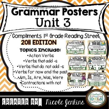 Grammar Posters Reading Street Unit 3 - 2011 Version
