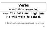 Grammar Posters (Unit 3 Verbs: McGraw-Hill California Treasures)