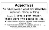 Grammar Posters (Unit 5 Adjectives: McGraw-Hill California Treasures)