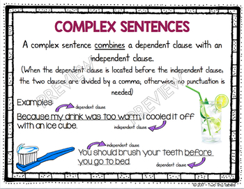Grammar Posters and Personal Reference Cards ~ Over 90 Grammar Terms!