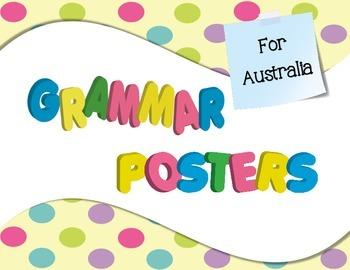 Grammar Posters for Australia in Confetti