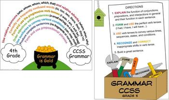 Grammar Posters for CCSS K-5