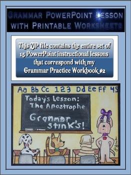 Grammar PowerPoints & Handouts - Complete Set of PPT Lesso