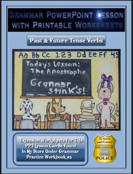 Grammar PowerPoint & Handouts - Past & Future Tense Verbs