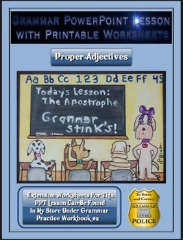 Grammar PowerPoint & Handouts - Proper Adjectives