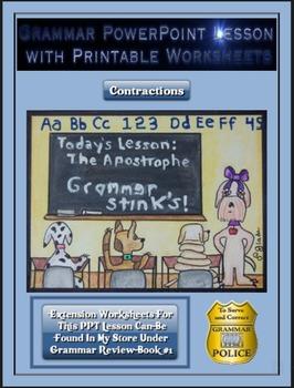 Grammar PowerPoint & Handouts - Contractions