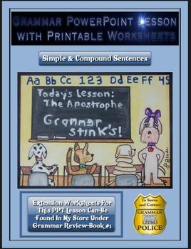 Grammar PowerPoint & Handouts - Simple & Compound Sentences