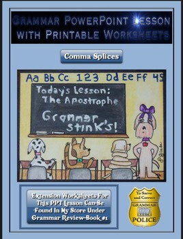 Grammar PowerPoint & Handouts - Comma Splices