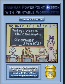 Grammar PowerPoint & Handouts - Fragments & Run-Ons