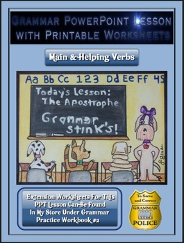 Grammar PowerPoint & Handouts - Main & Helping Verbs