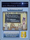 Grammar PowerPoint & Handouts - Main & Helping Verbs