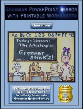 Grammar PowerPoint & Handouts - Quotations