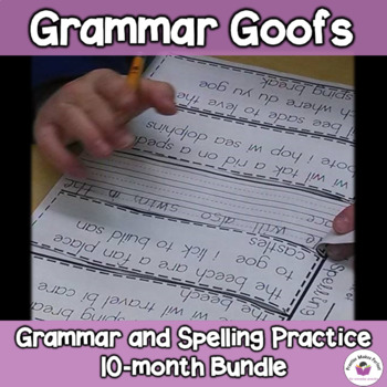 Daily Grammar Practice  10-month bundle