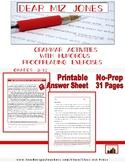 Grammar | Dear Miz Jones: | Funny Proofreading Exercises | Worksheets