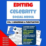 Grammar Practice: Edit Celebrity Social Media Updates FREEBIE!!!!