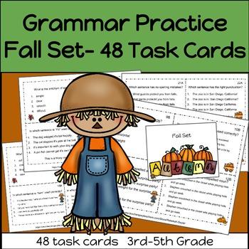 Grammar Practice FALL Set   3rd-5th Grade